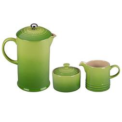 Le Creuset Palm Stoneware French Press Coffee Maker With Mat