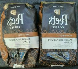 Peet's Coffee Peetnik Pack, Major Dickason's Blend, Ground,