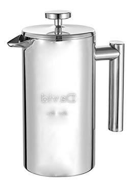 Personalized Stainless Steel Coffee French Press with Free E