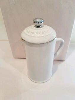 Le Creuset Petite French Press 12 Ounce White New without Bo