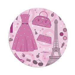 iPrint Polyester Round Tablecloth,Heels Dresses,Paris Fashio