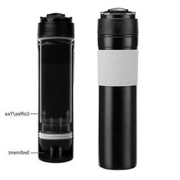 Portable Coffee French Press Tea Maker Cup 350ml Travel Wate