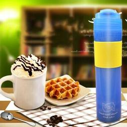 10oz Portable Stainless French Press Travel Mug Coffee Maker