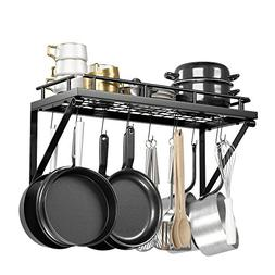 Pot Rack Organizer with Upgraded Hardware, Support Brackets