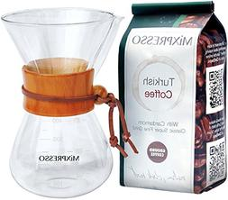 Pour Over Coffee Maker Brewer Glass Carafe Borosilicate With