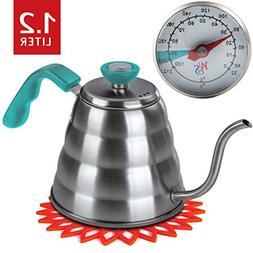 Premium Pour Over Coffee Kettle with THERMOMETER for Precise