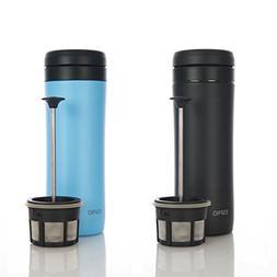 Espro Travel Press Sky Blue & Matte Black w/Coffee Filter Fr