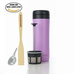 Espro Travel Press - French Press Travel Mug, Stainless Stee