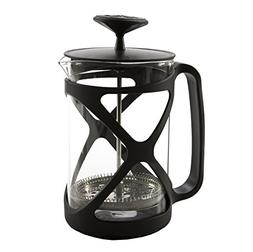 Primula Glass and Black Exterior French Press Coffee Espress