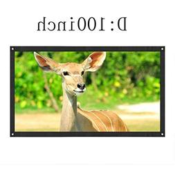 Morecome Projection Screen Portable Fabric Foldable 3D HD Fo