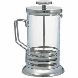 Harior Bright Coffee Tea Press Silver 600ml French Presses K