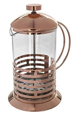 Rose Gold 27oz Tempered Borosilicate Glass French Press Coff