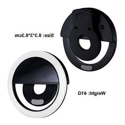 Clip on Selfie Ring Light 3 Level Brightness Selfie LED Came