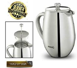 Stainless Steel Double-Wall Durable French Press Coffee Make