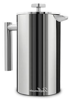 stainless steel double wall french