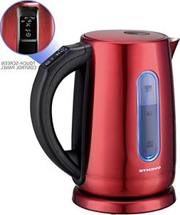 NEW Ovente Stainless Steel Electric Kettle with Touch Screen