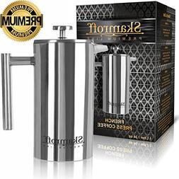 Skamroff Premium Stainless Steel French Coffee Press – Dou
