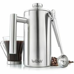 stainless steel french press cafetiere coffee maker
