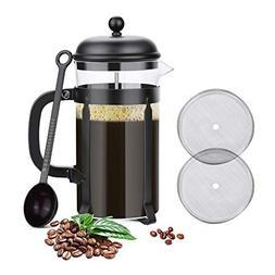 Glotoch Stainless Steel French Press Coffee & Tea Maker, Gla