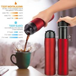 Stainless Steel French Press Coffee Maker Vacuum Insulated T