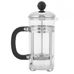 350ml Stainless Steel Glass Hollow Cafetiere French Filter T