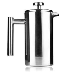 Uarter Stainless Steel Insulated Coffee Tea Maker French Pre
