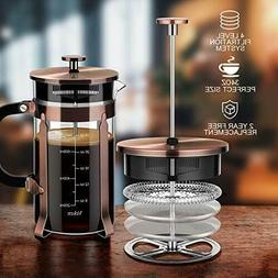 Belwares Stainless Steel Large French Press Coffee Maker wit