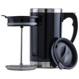 TRAVEL FRENCH PRESS MUG Stainless Steel Lined Double Wall Co