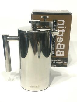 Stainless Steel Quick Coffee Maker French Press Double Wall