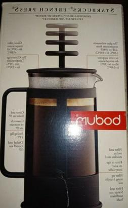 For Starbucks Bodum Glass French Press, 8 Cup, New In Box Mo