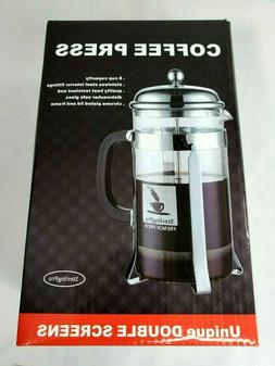 sterling pro coffee french 8 cup stainless