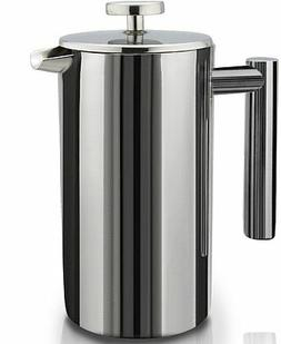 SterlingPro Double Wall Stainless Steel French Coffee Press,