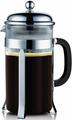 SterlingPro French Coffee Press 12 Cup  Chrome Brand New