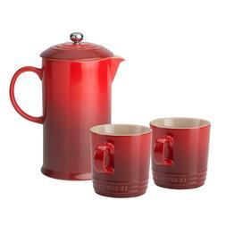 Le Creuset Stoneware Cafetiere Press, 750 ml & optional set