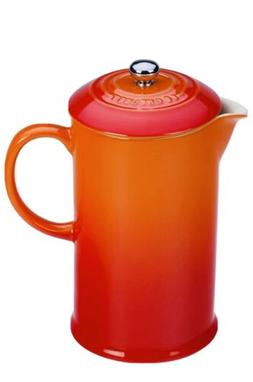 Le Creuset Stoneware French Press, 34 oz., FLAME