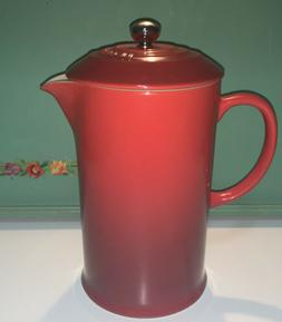 Le Creuset Stoneware French Press Coffee Maker, 27 oz, Ceris