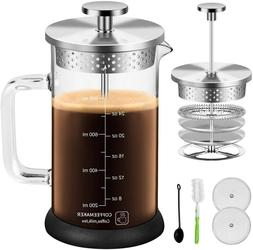 the Coffee French Press 34Oz with 304 Grade Stainless Steel