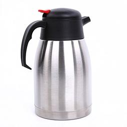 IEBIYO Thermal Carafe, 1.5 Liter Stainless Steel Coffee Ther