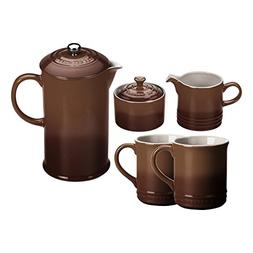 Le Creuset Truffle Stoneware 5 Piece Coffee Service Set with