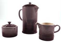 Le Creuset Truffle Stoneware French Press Coffee Maker With