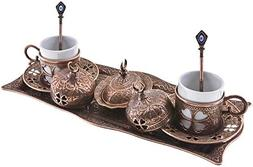 Premium Turkish Greek Arabic Coffee Espresso Serving Set for