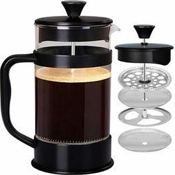 Utopia Kitchen French Coffee Press 34 Oz - 1000 ml - Black -