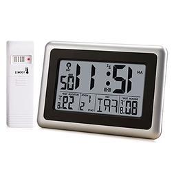 OCEST Digital Wall Clock,Desk Alarm Clock Large LCD Display