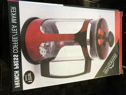 WYNDHAM HOUSE 34oz 1 liter Red Metallic Premium French Press